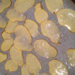 Kartoffelscheiben vor dem trocknen